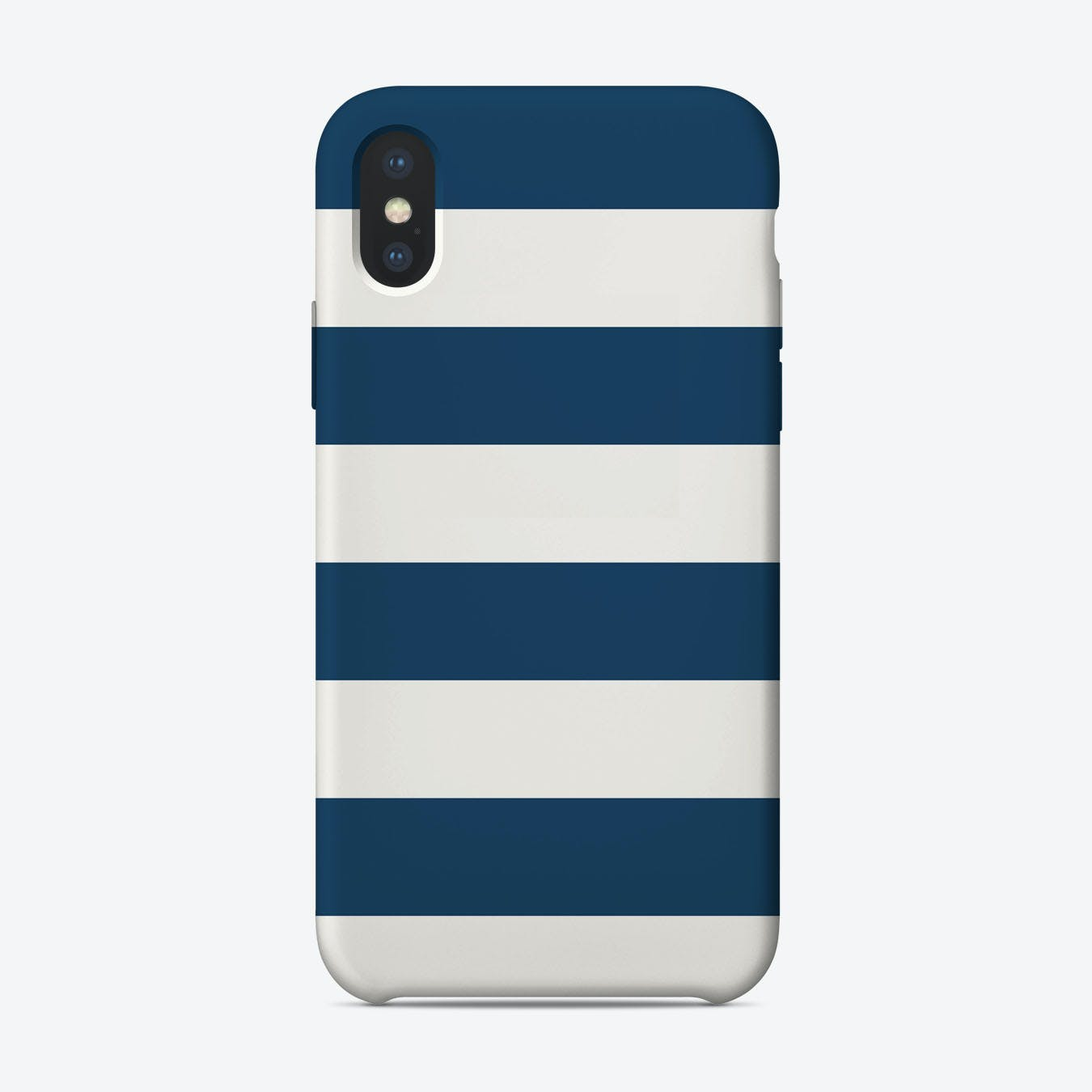 Navy Blue Stripes iPhone Case