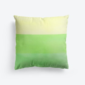 Lime Green Watercolour Gradient Cushion