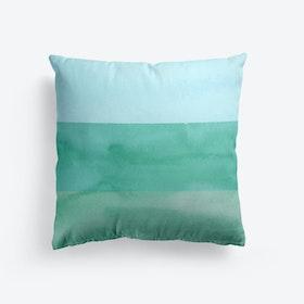Green Watercolour Gradient Cushion