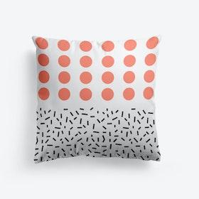 Living Coral Dots Cushion