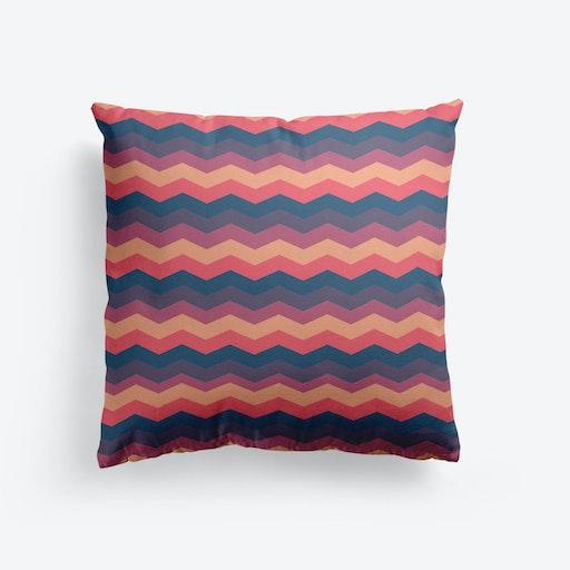 Multicolor Chevron Cushion