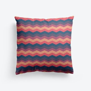 Multicolor Chevron Cushion