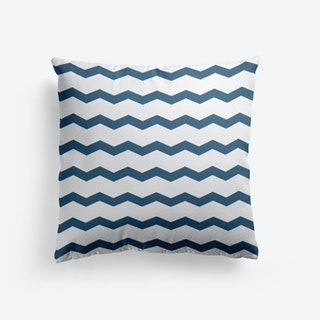 Chevron In Navy Cushion