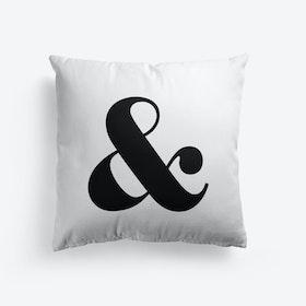 Ampersand Black Cushion