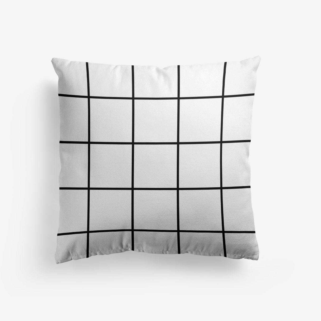 Black And White Lines Cushion