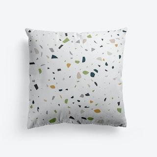 Terrazzo In Green Cushion
