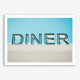 Retro Diner Sign Photo Art Print
