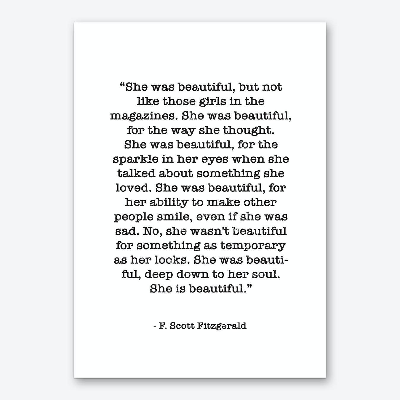 Fitzgerald Quote Art Print