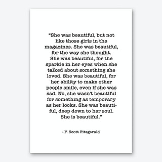 Fitzgerald Quote Art Print