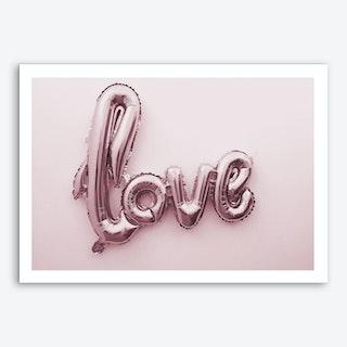 Love Pink Balloon Art Print