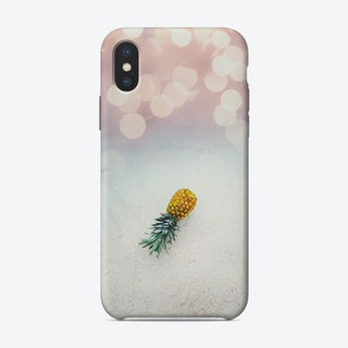 Pineapple on the beach iPhone Case