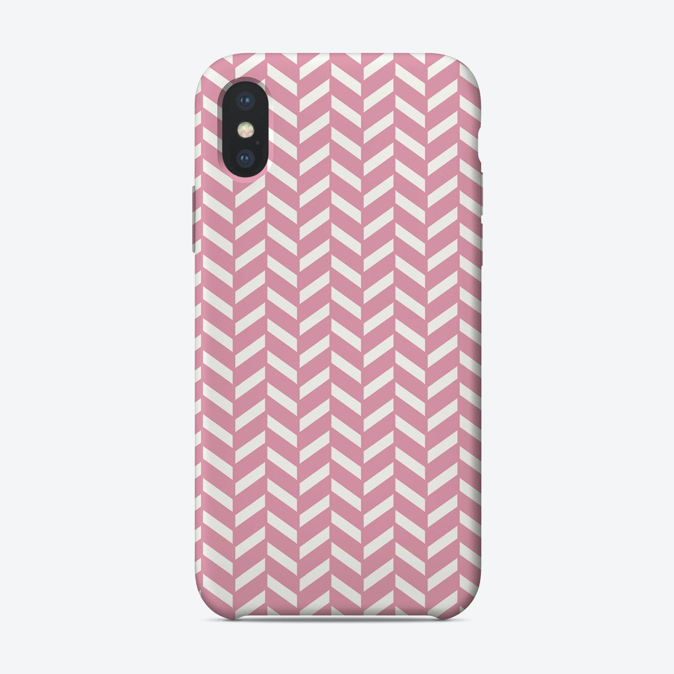 Pink Chevron Pattern iPhone Case