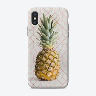 Pink Geometrical Pinapple Pattern iPhone Case