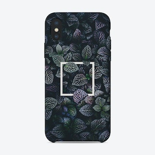 Purple Tropical Leaves iPhone Case
