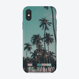 Retro Colorful Palms iPhone Case