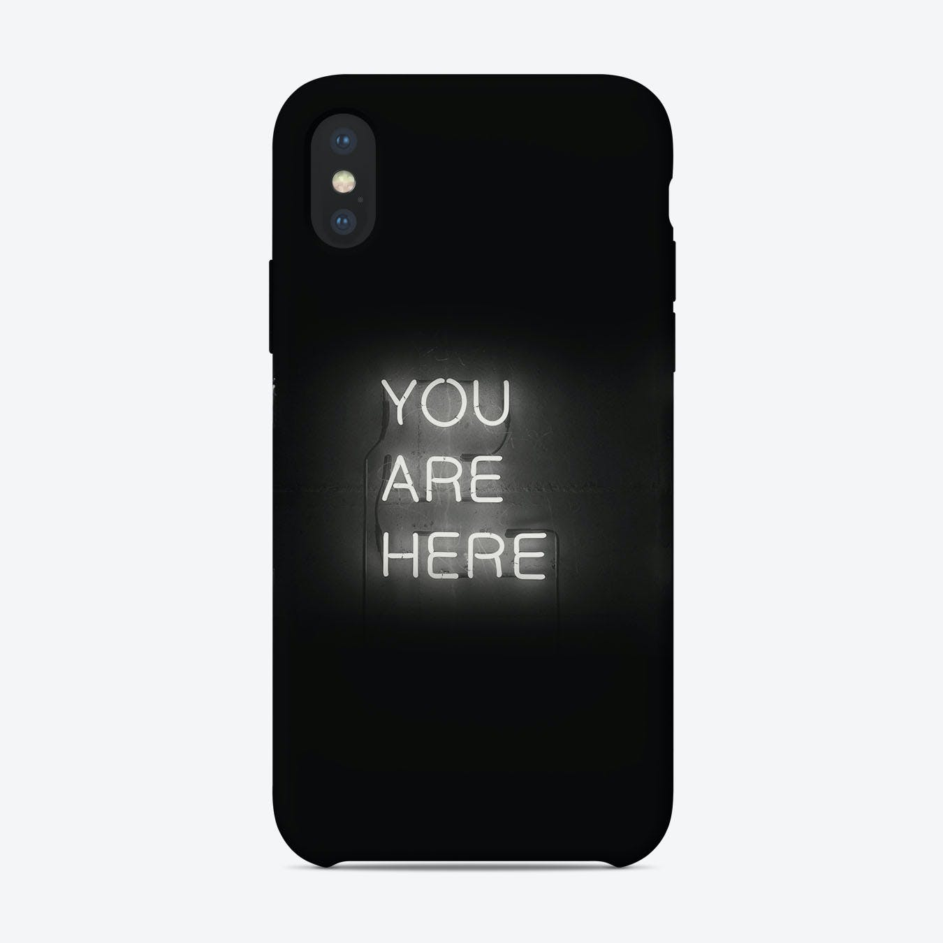 You Are Here Neon Sign iPhone Case