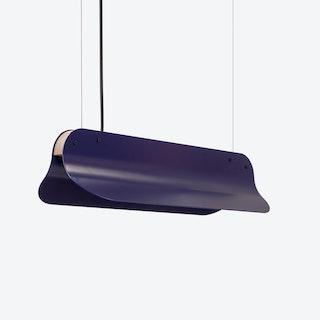 LED 400 Long Shade Pendant Lamp in Night Blue