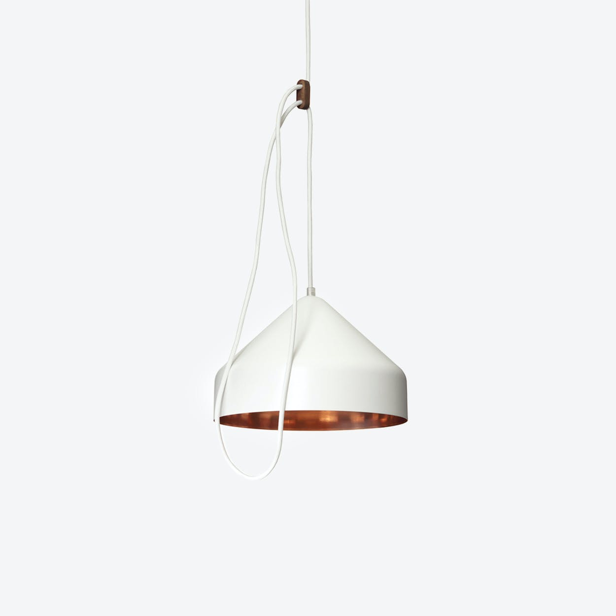 Lloop Pendant Lamp in Copper & White