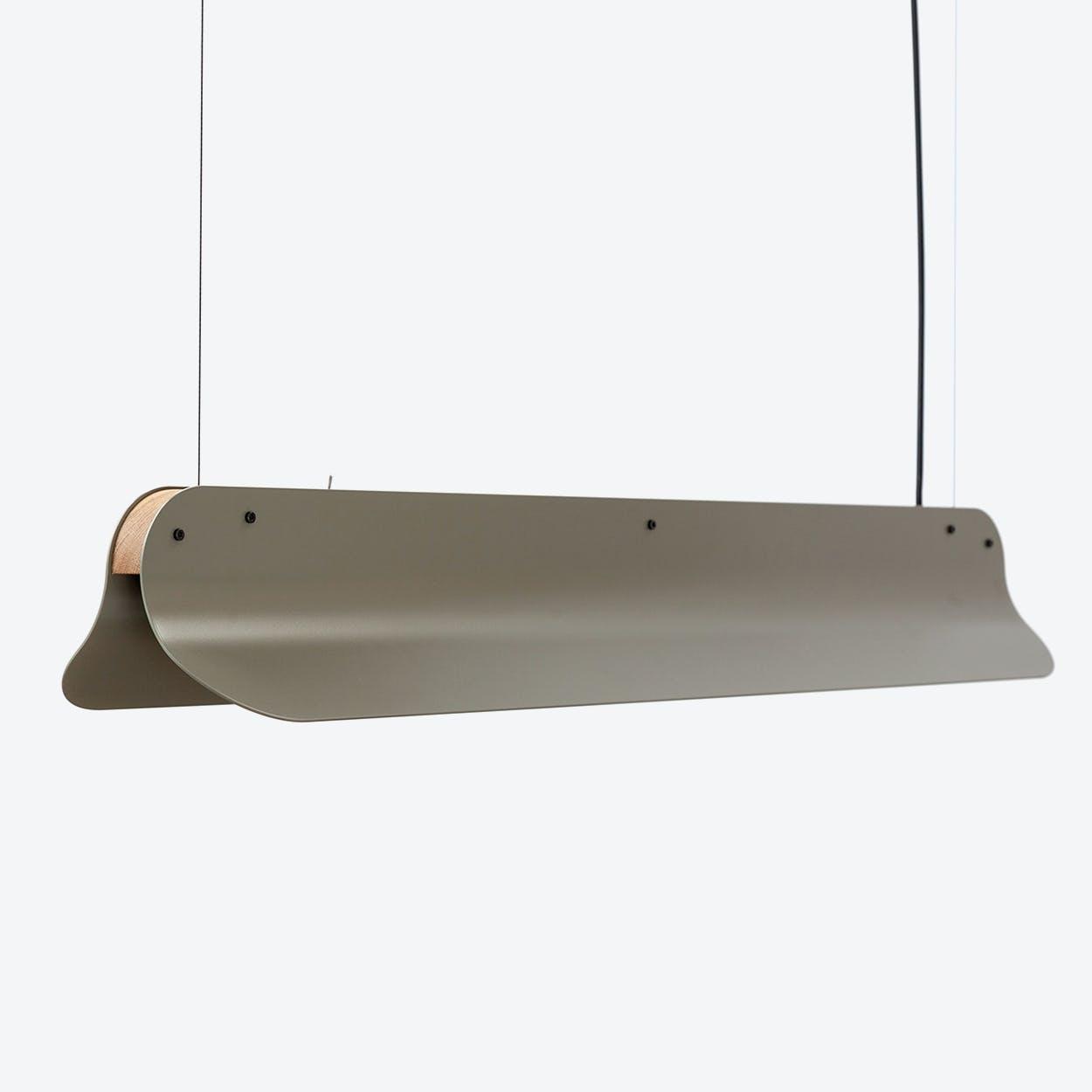 LED 800 Long Shade Pendant Lamp in Moss Grey