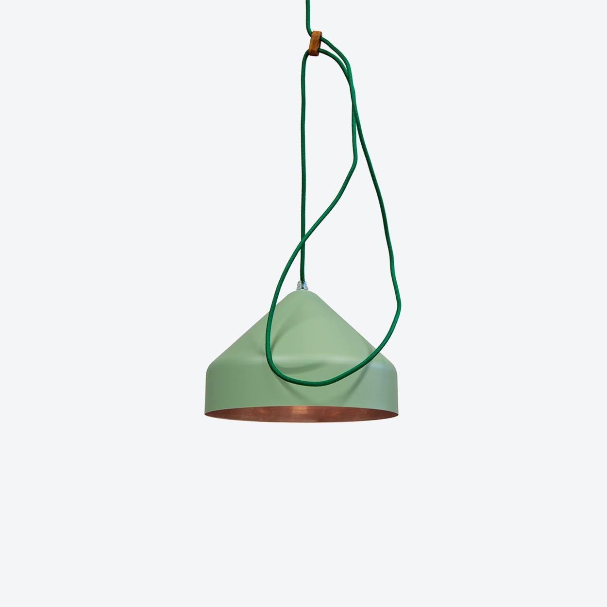 Lloop Pendant Lamp in Copper & Green