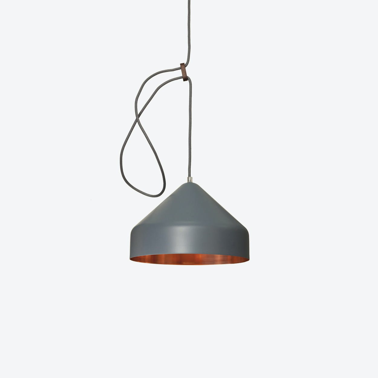 Lloop Pendant Lamp in Copper & Grey