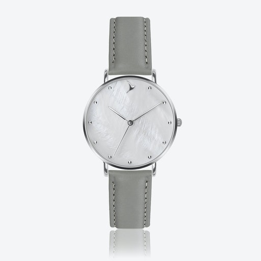 MOP Watch in Grey Leather ⌀38