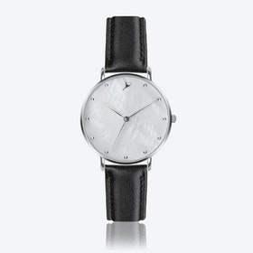 MOP Watch in Black Leatehr ⌀38