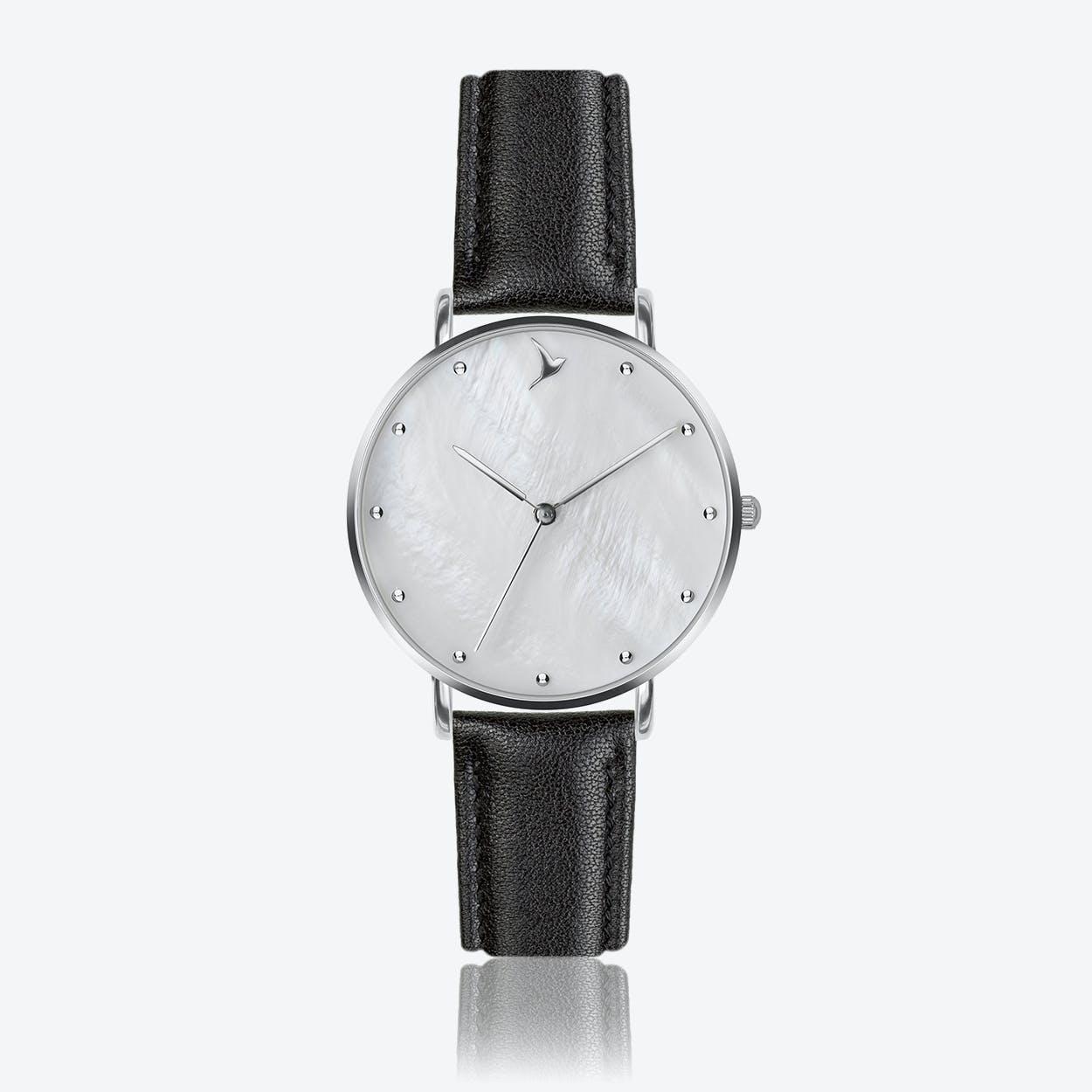 MOP Watch in Black Leatehr ⌀38