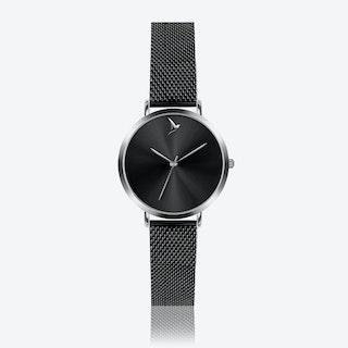 Black Sunray Watch in Black ⌀33