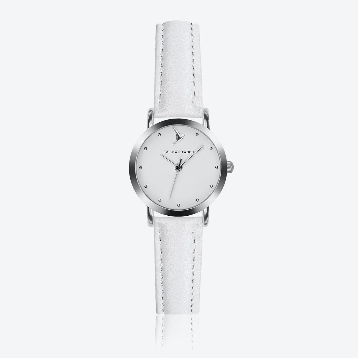Marshmallow White Watch in White Leather ⌀28