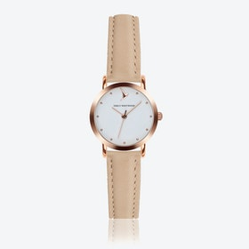 Marshmallow White Watch in Cream Powder Leather ⌀28