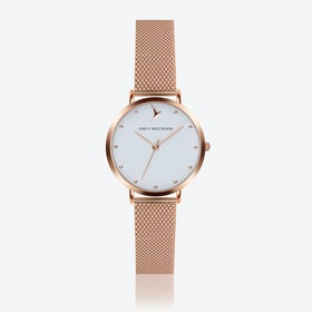 Marshmallow White Watch in Rose Gold ⌀33