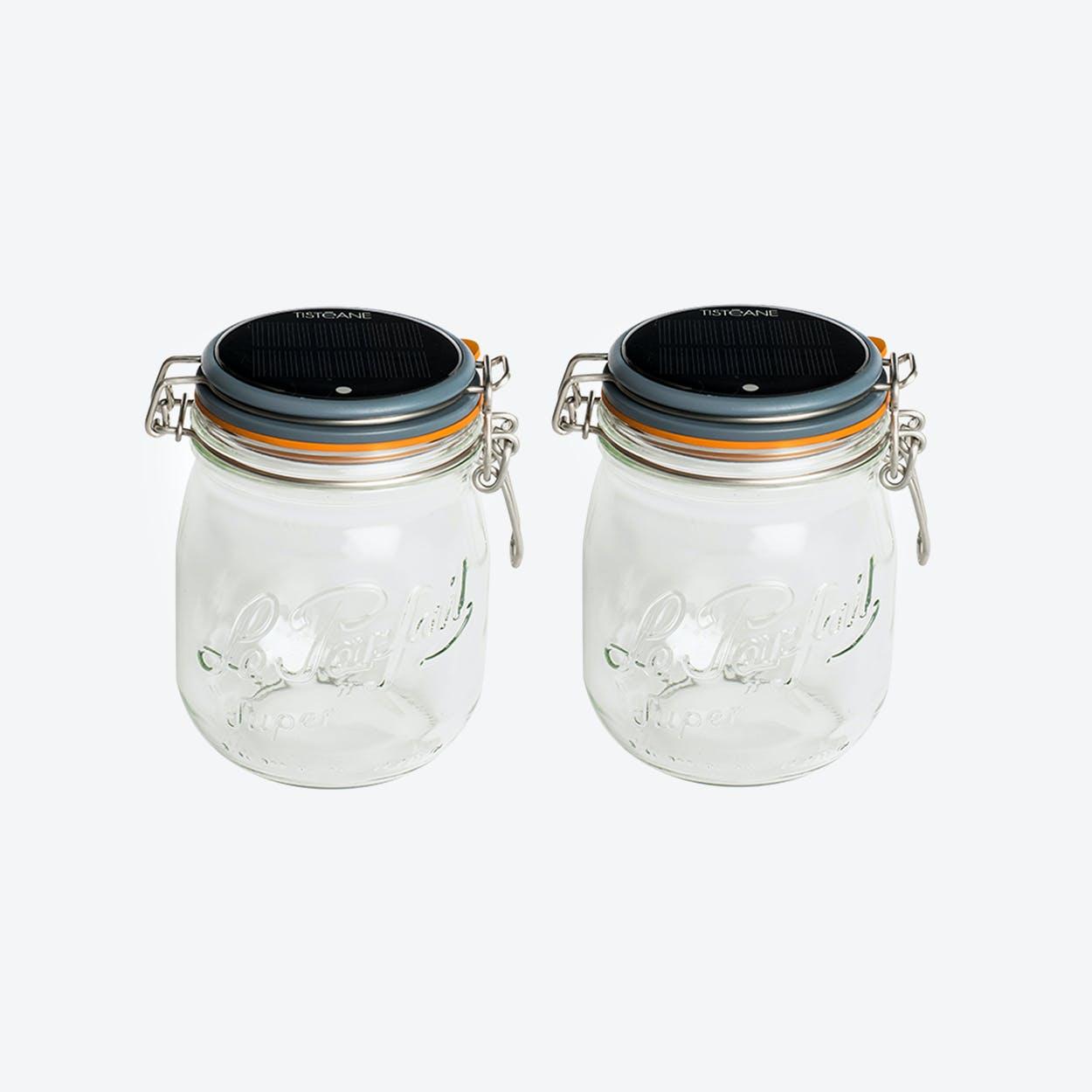 Solar Lamps - Set of 2 Glasses Lucioles Le Moyen Parfait Solaire Grey