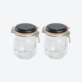 Solar Lamps - Set of 2 Glasses Lucioles Le Moyen Parfait Solaire Black