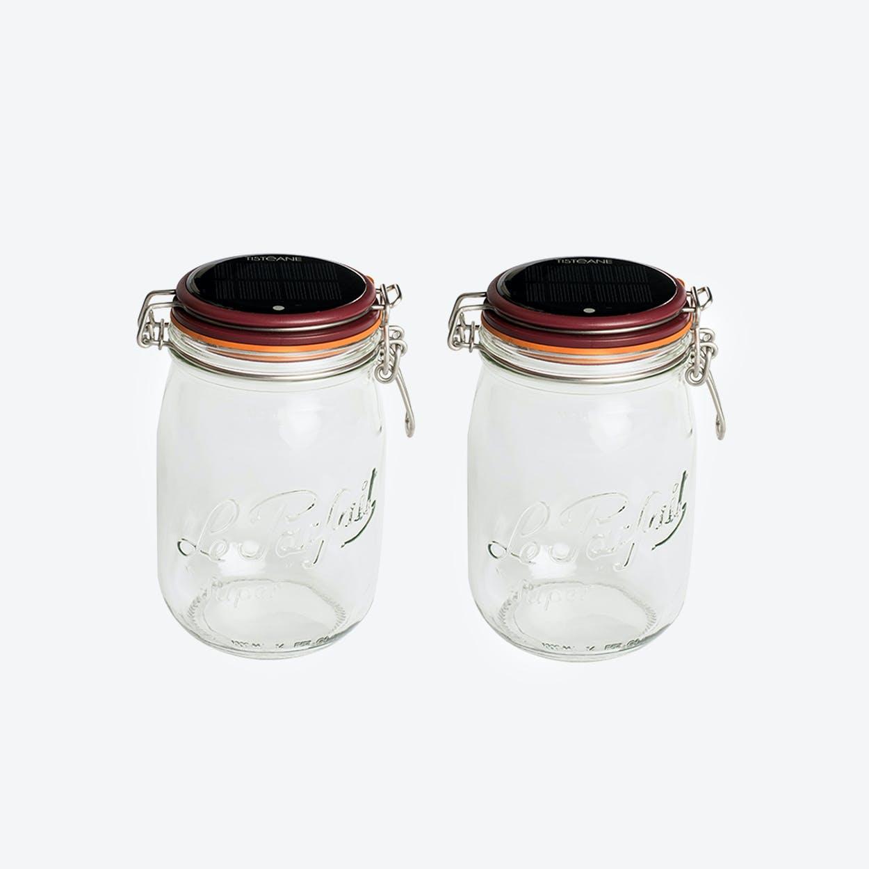 Solar Lamps - Set of 2 Glasses Lucioles Le Grand Parfait Solaire Red