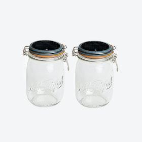Solar Lamps - Set of 2 Glasses Lucioles Le Grand Parfait Solaire Grey
