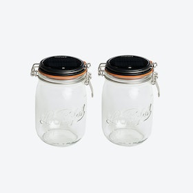 Solar Lamps - Set of 2 Glasses Lucioles Le Grand Parfait Solaire Black