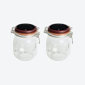 Solar Lamps - Set of 2 Glasses Lucioles Le Moyen Parfait Solaire Red