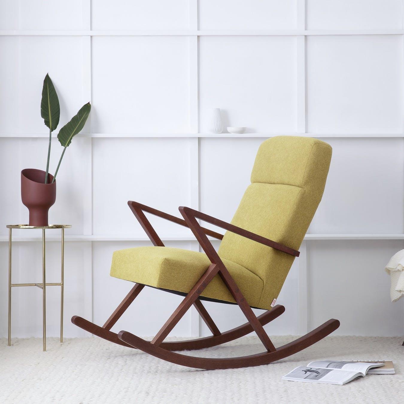 Retrostar Lounge Rocker - Basic-Line in Yellow