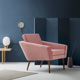 Supernova Chair - Velvet Line in Vintage Pink