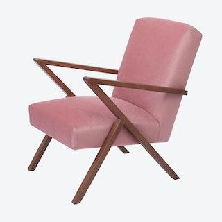 Retrostar Chair- Velvet Line in Rosa Vintage Pink
