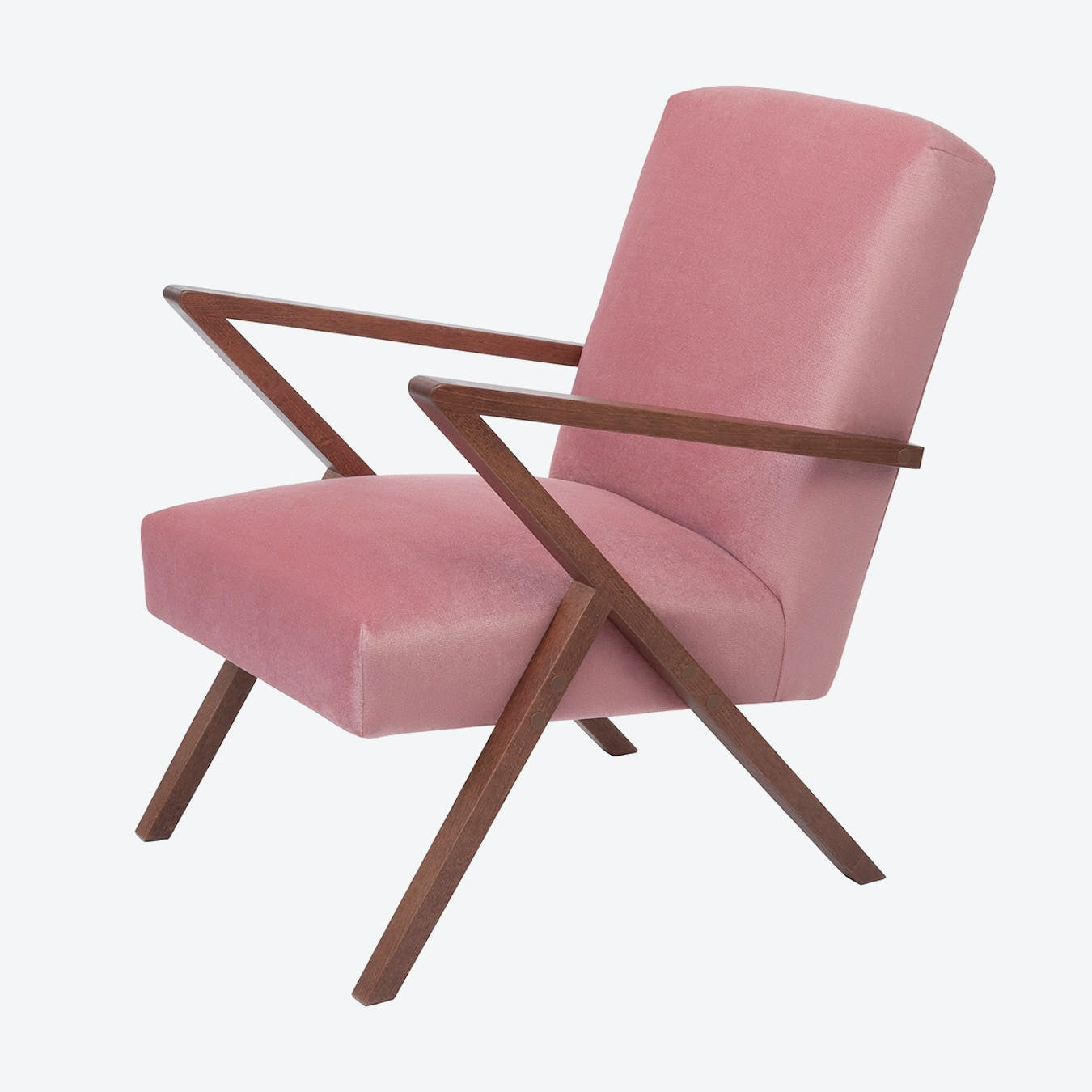 Retrostar Chair- Velvet Line in Rosa Vintage Pink