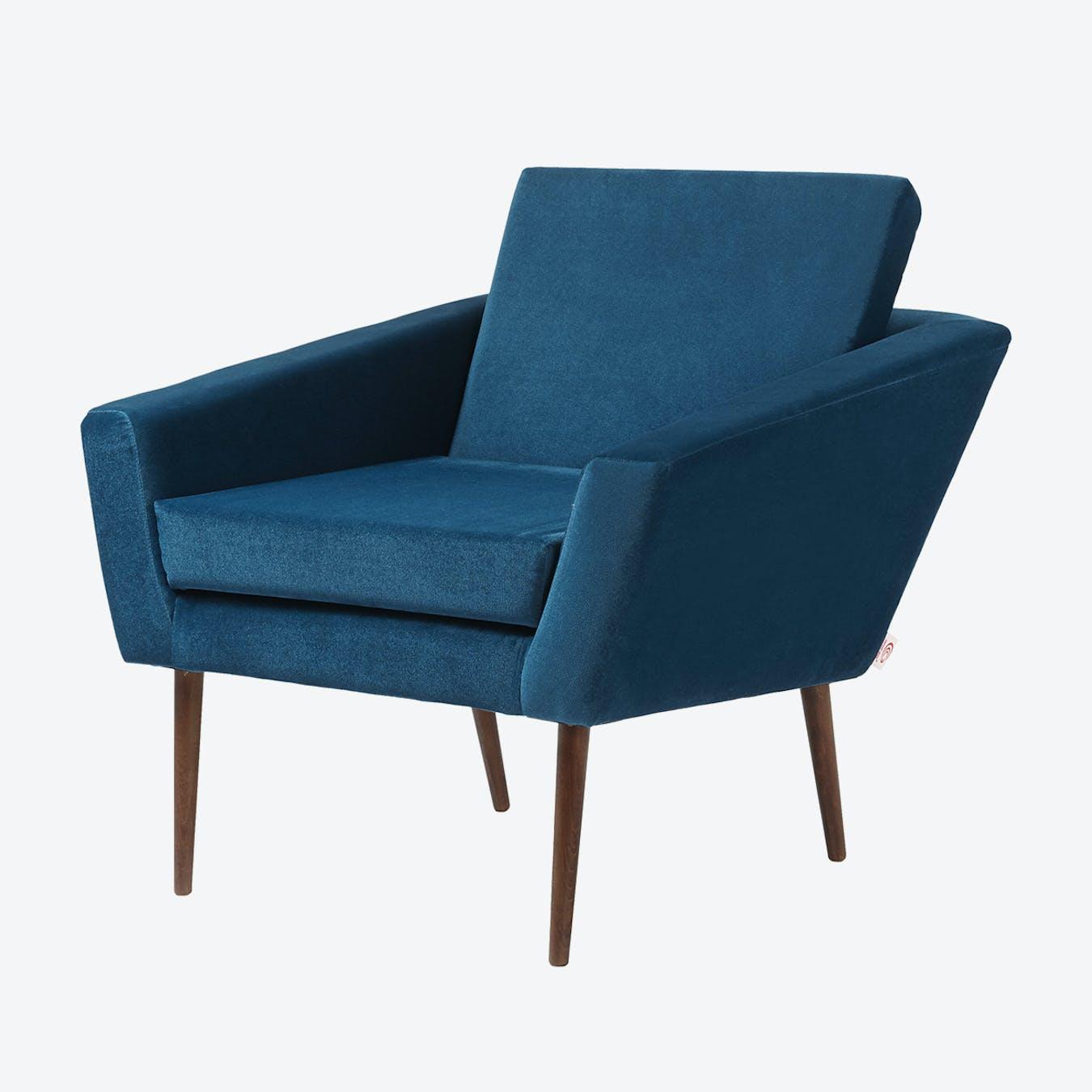 Supernova Chair - Velvet Line in Royal Blue