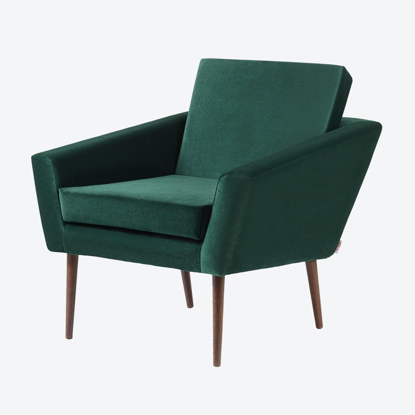 Supernova Chair - Velvet Line in Hunter Green