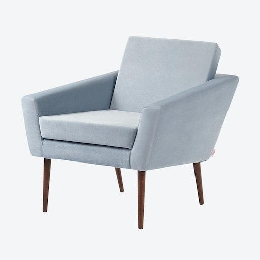 Supernova Chair - Velvet Line in Ice Grey