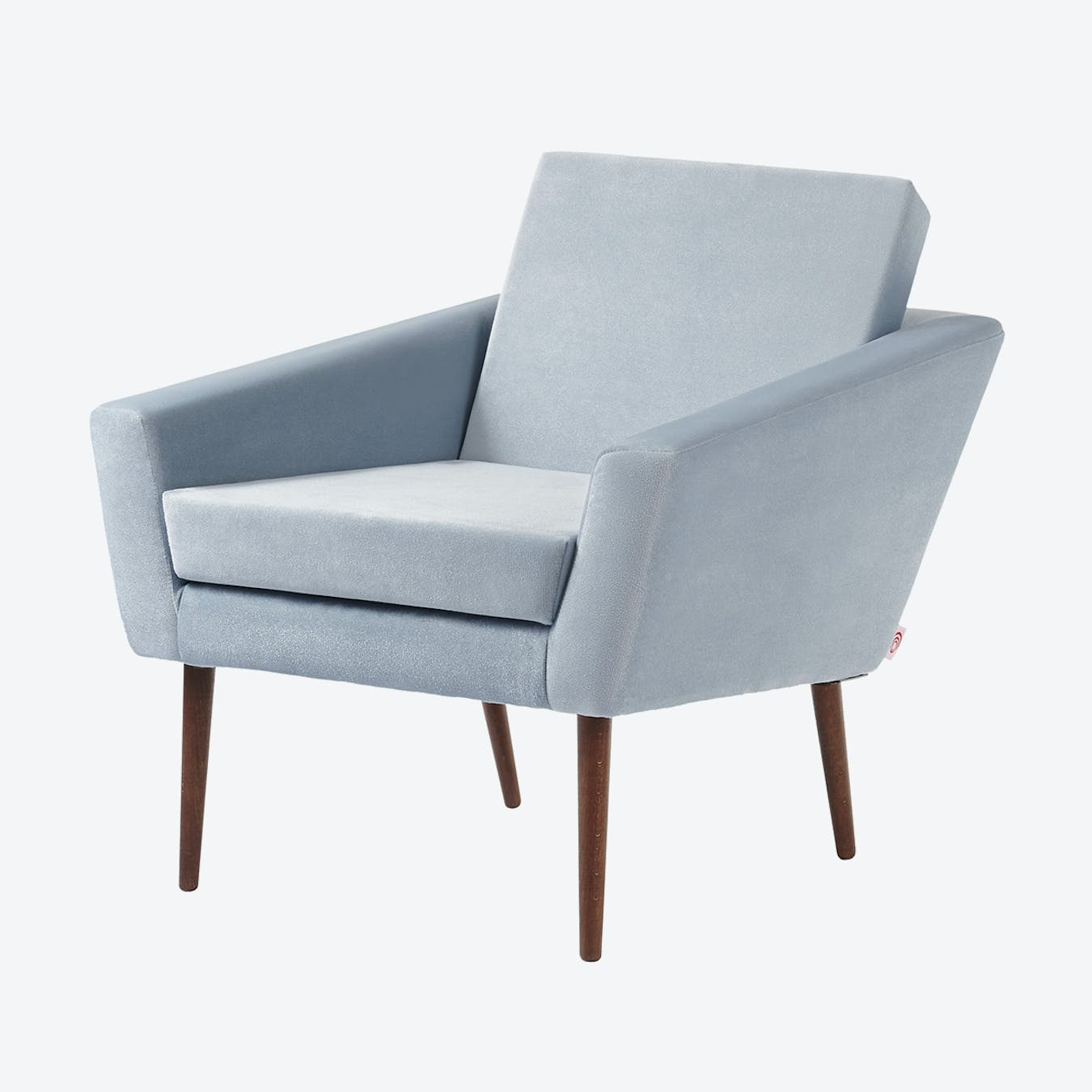 Supernova Chair - Velvet Line in Ice Grey
