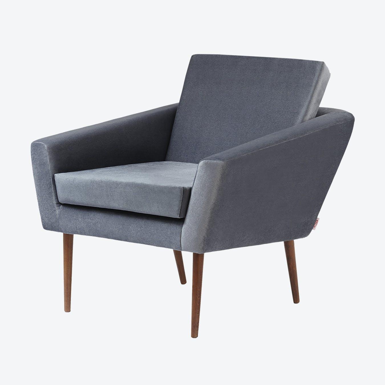 Supernova Chair - Velvet Line in Grey