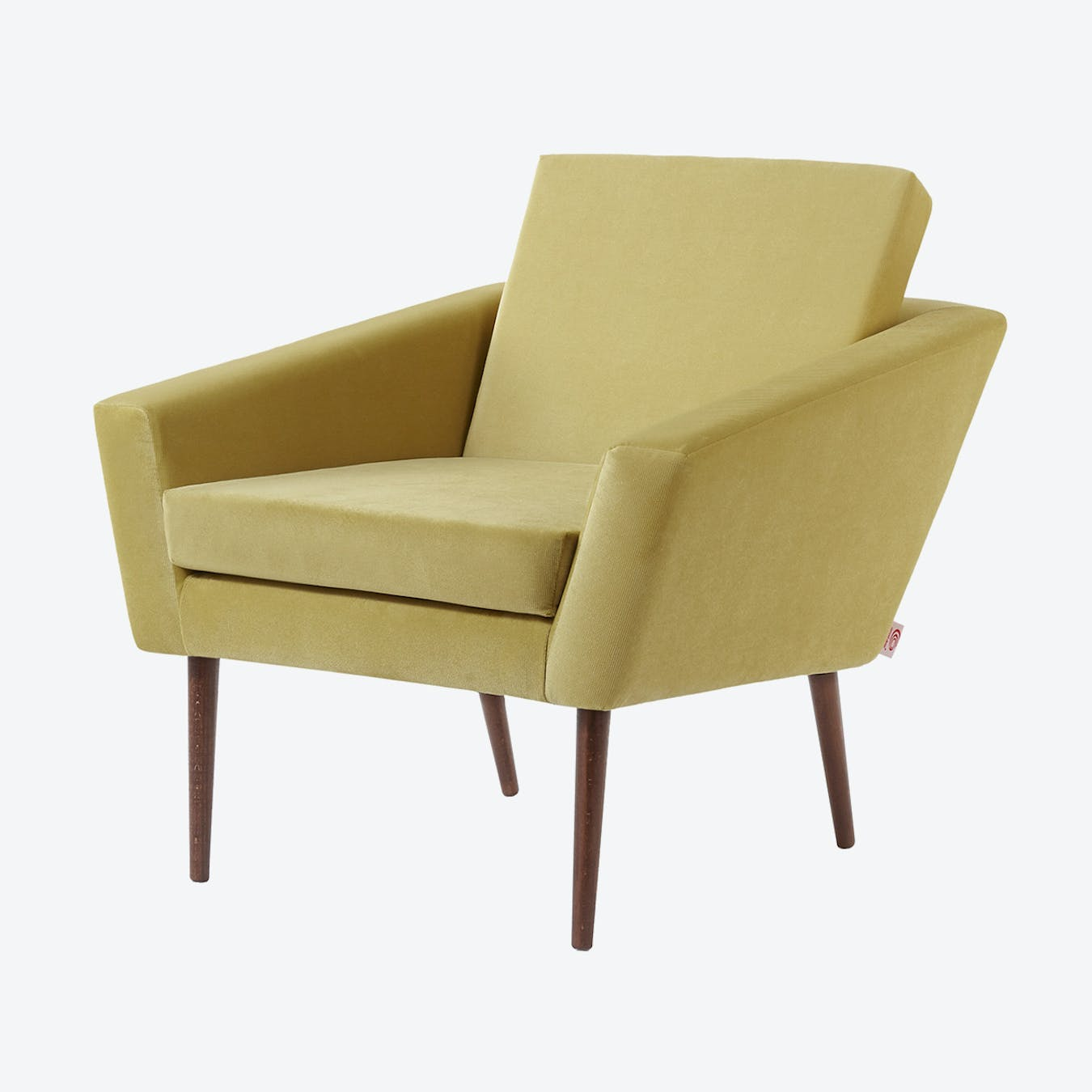 Supernova Chair - Velvet Line in Lemon Yellow