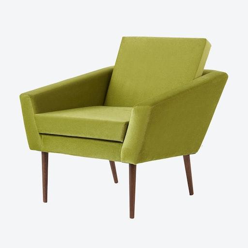 Supernova Chair - Velvet Line in Apple Green