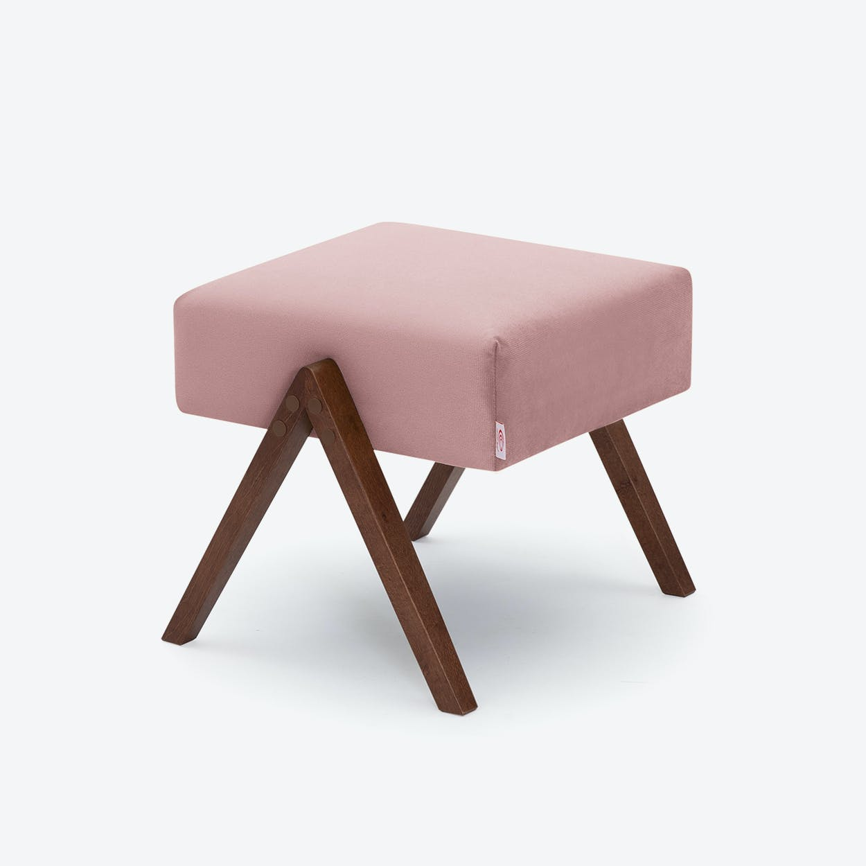 Retrostar Footstool - Velvet-Line in Vintage-Pink